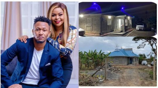 Size 8 pours her heart out to DJ Mo in a special message after building his parents a house [Photos]