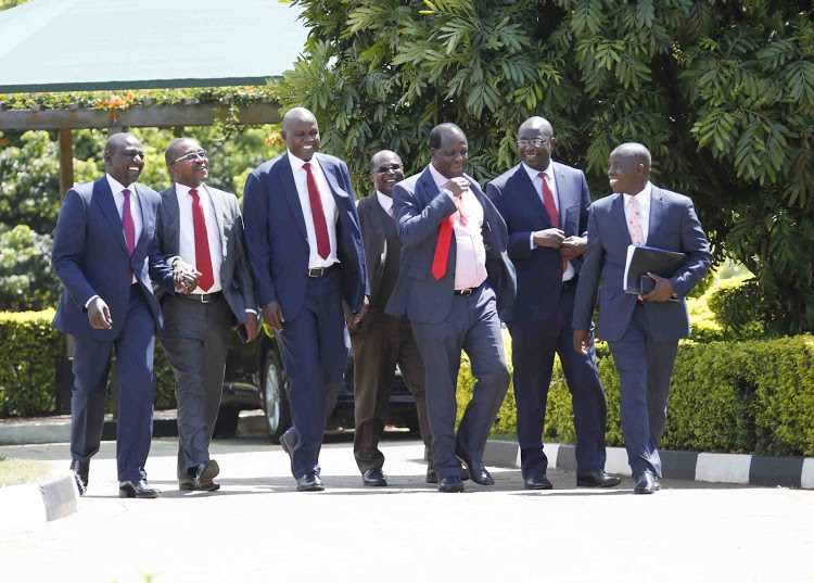 File image of Wycliffe Oparanya in the company of other governors who met DP Ruto
