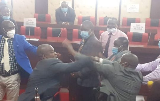 Lawmakers injured in ugly fight