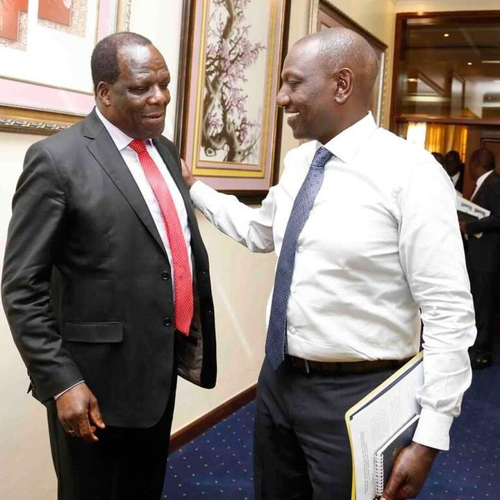Wycliffe Oparanya with DP Ruto