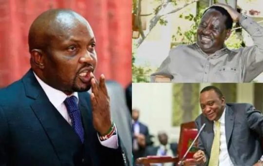 Moses Kuria lights up social media with belated Mother's Day message tackling Uhuru-Raila union