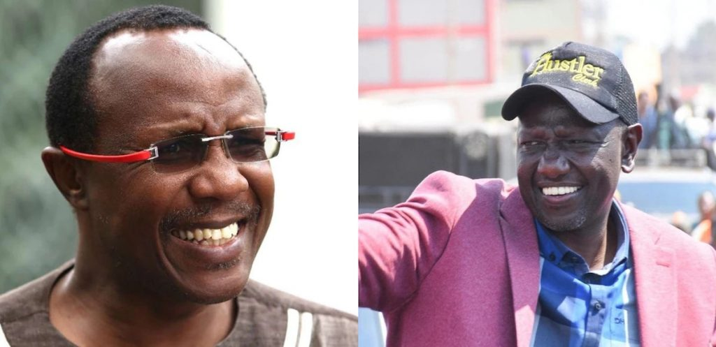 A collage image of Economist David Ndii and Deputy President William Ruto