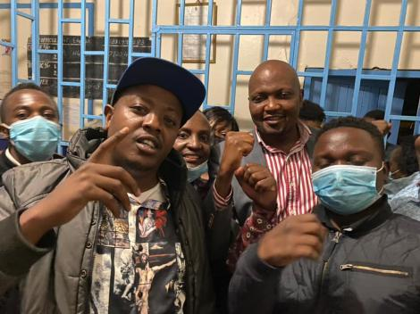 File image of Moses Kuria when he was arrested last month