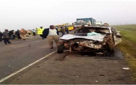 5 dead 4 seriously injured in early morning  highway accident