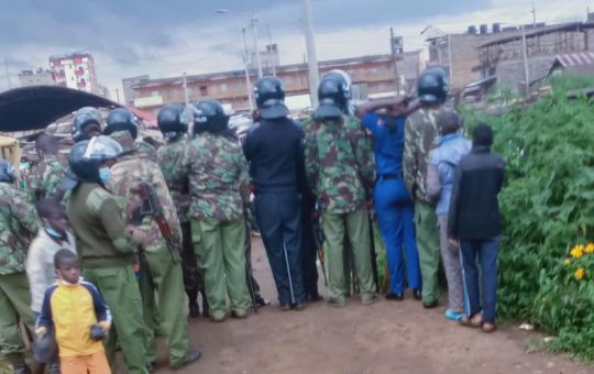 Frustrated Moses Kuria in angry rant after heavily-armed police disrupted his event [Photos]