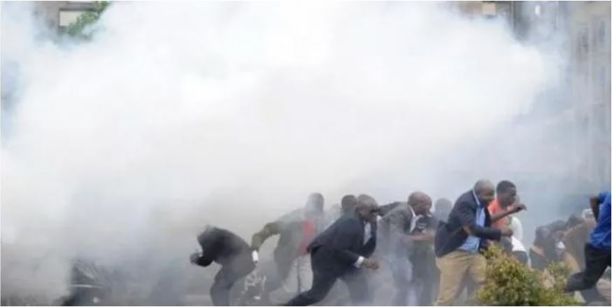 File image of past protests in Nairobi