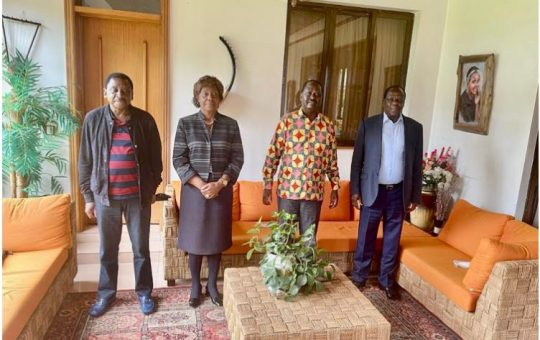 Details of Raila's crucial meeting with Oparanya, Orengo, and Otiende to quiet the disunity in ODM