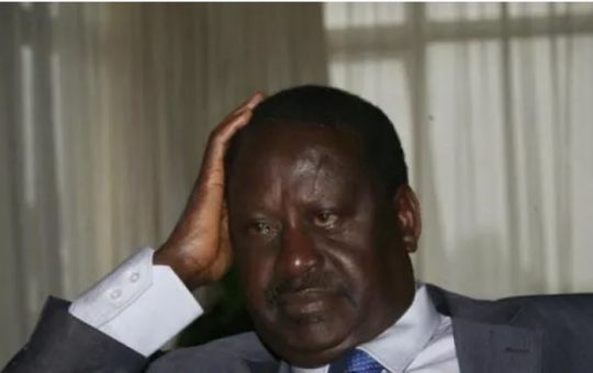 Raila Odinga in mourning following the death of former MP