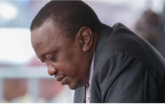 President Uhuru in mourning following the death of the former PC