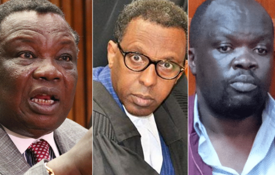 """""""What have you done in this life other surviving on extortion?"""" Fireworks as Francis Atwoli, Blogger Robert Alai and Lawyer Ahmednassir Abdullahi engage in bitter exchange"""
