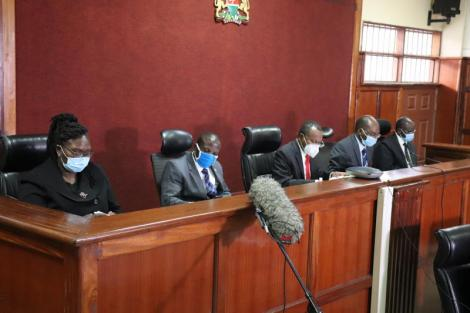 The 5-judge bench which declared BBI as null and void, on Thursday, May 13, 2021