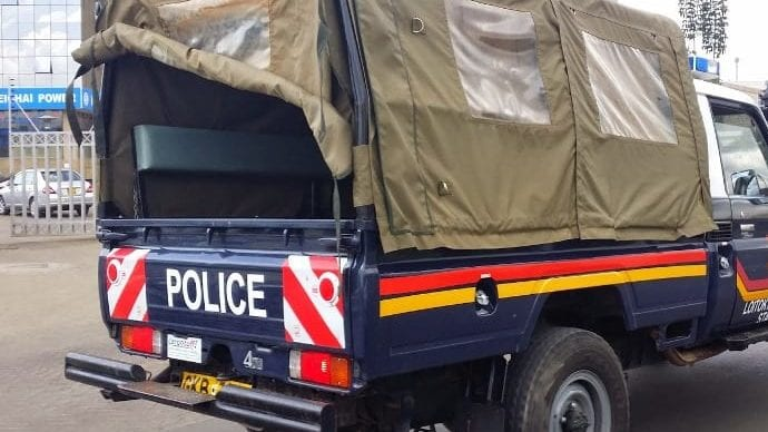 A police vehicle at a past operation
